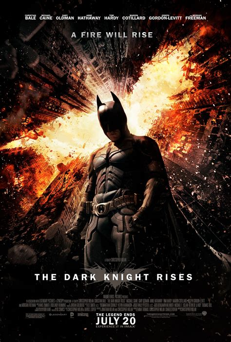 New 'The Dark Knight Rises' Theatrical Poster Fires Up