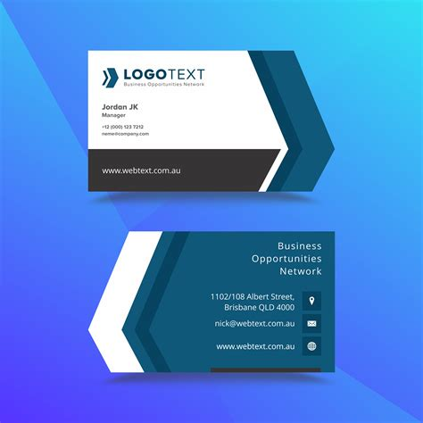 Professional Business Card Design Template - Download Free