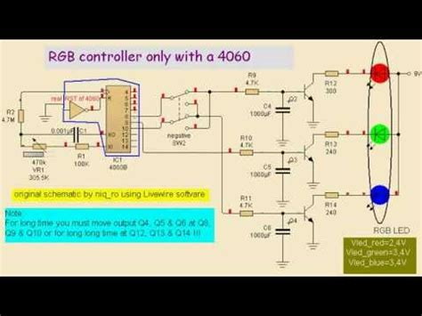 RGB LED controller only 4060 - YouTube
