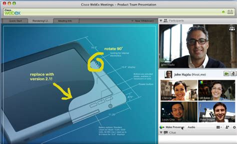 Test and review of WebEx Meetings Premium - features