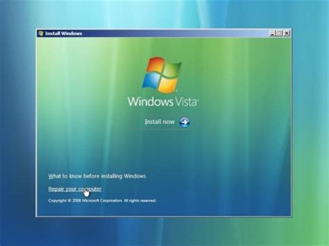 Working with Vista's Windows Recovery Environment