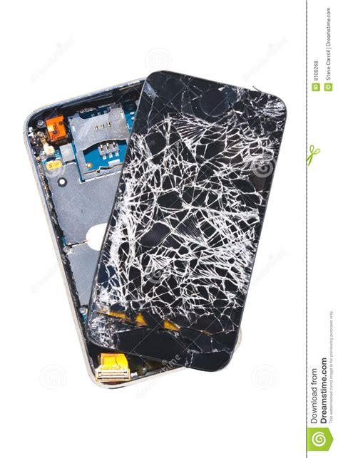 Smashed Cell Phone Royalty Free Stock Photos - Image: 8100268
