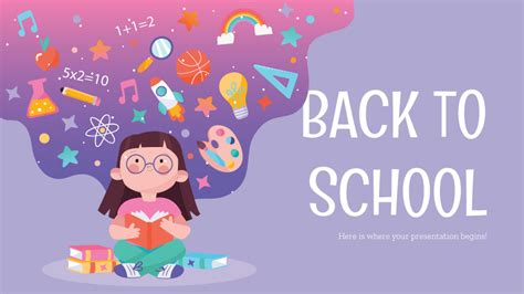 Back to School Social Media Google Slides and PowerPoint
