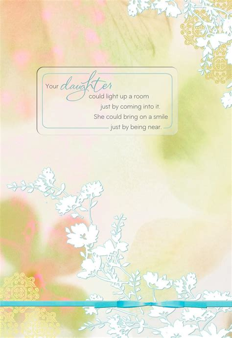 Flowers Loss of Daughter Sympathy Card - Greeting Cards